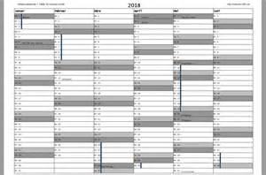 Kalender 2018 Pdf Kostenlos Kalender 2018 Zum Ausdrucken Freeware De