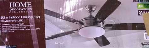 petersford 52 in led brushed nickel ceiling fan home decorators collection daylesford 52 in led brushed