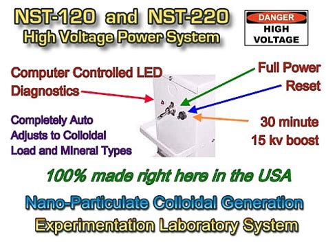 high voltage ac colloidal silver generator organix technologies