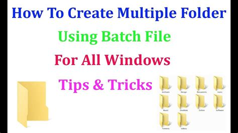 how to make all of your folders have the same view in how to create multiple folder using batch file for all windows