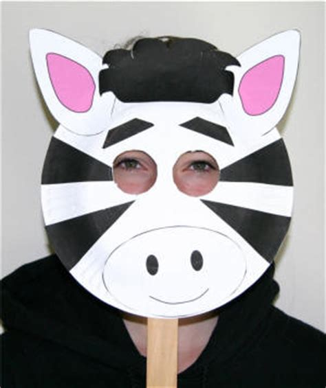 Animal Masks To Make With Paper Plates - paper plate zebra craft