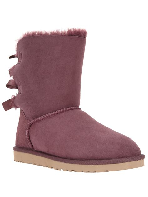 pink ugg boots with bows ugg bailey bow boot in purple pink purple lyst
