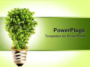 powerpoint template plant growing from light bulb base