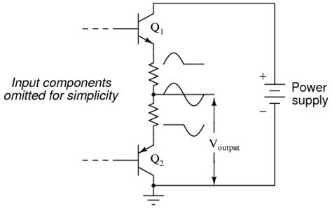 bjt tutorial questions is this push pull lifier wrong electrical