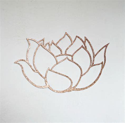 Glitter Lotus Wall Decor Glitter Wood Art Spiritual Home Sparkle Wall Decor