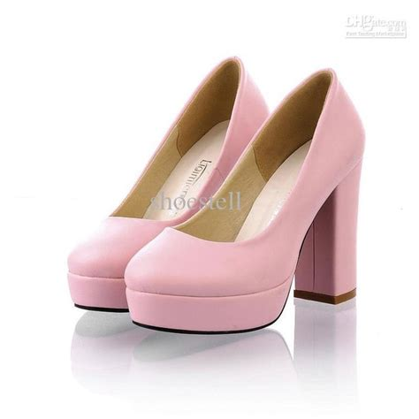 pastel pink chunky heel shoes things wants