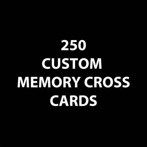 memory cross card template customized memory cross cards unique card design that can