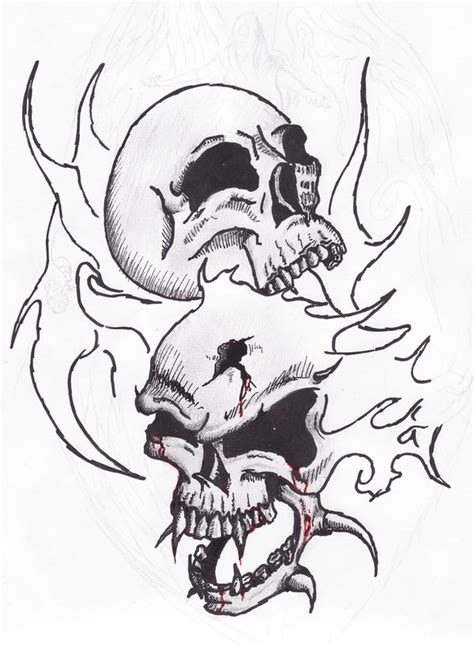 coloring pages fire skulls fire skulls sketch tatoo by satroa on deviantart