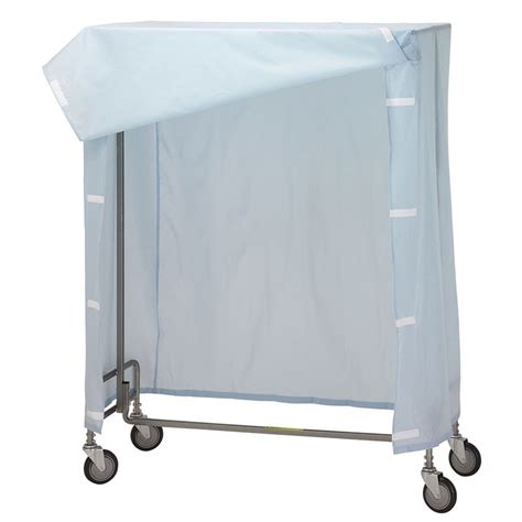r b wire portable garment rack cover frame blue