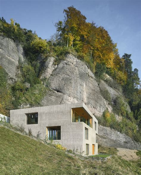 Hillside Houses | hillside home is wood frame construction with concrete