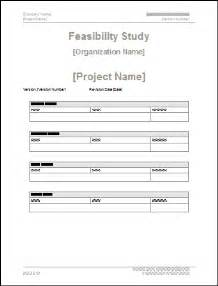 Feasibility Study Template Doc by Feasibility Study Ms Word Template Instant