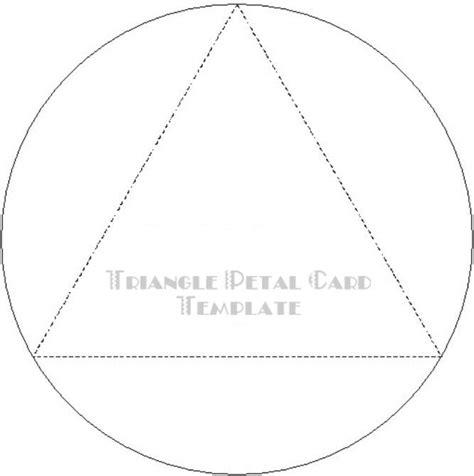 petal card template triangle petal card template temptress