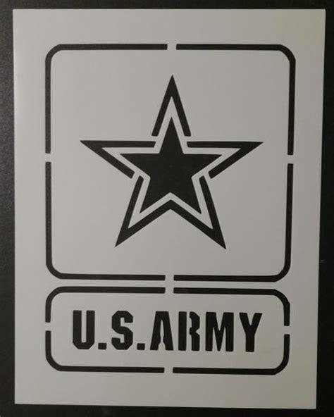 army pattern stencil u s army square stencil my custom stencils