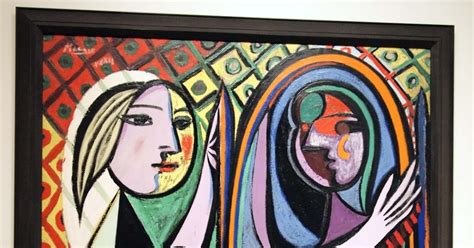 picasso paintings in mirror before a mirror