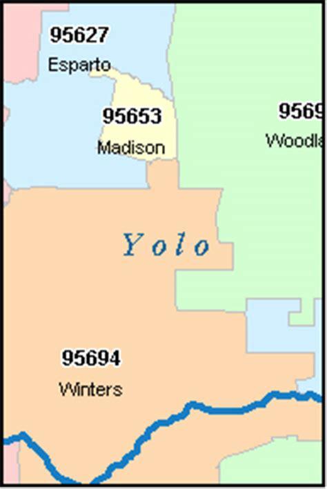 map of yolo county california yolo county california digital zip code map