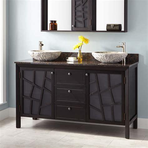 dark wood vanity bathroom