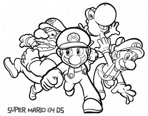 mario and luigi coloring pages archives