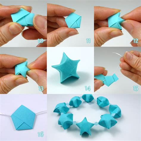 Make Stuff With Paper - lucky folding steps tutorial by cecelia louie of