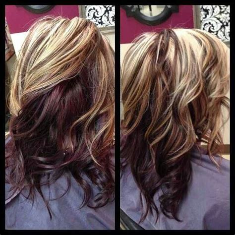 pics color dark underneath lowlights theew top red blonde highlights hair pinterest red blonde