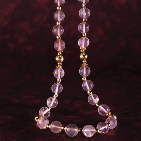 Kalung Pink Pastel Chain Necklace pastel pink amethyst necklace 30231 stauer