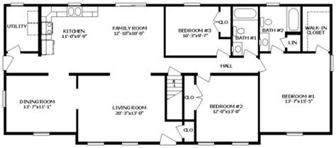 how to read manufactured home floor plans ranch modular home floor plans the bradford 3 bsn homes