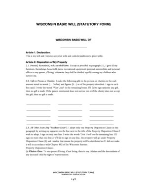 Codicil To Will Template Forms Fillable Printable Sles For Pdf Word Pdffiller Basic Will Template
