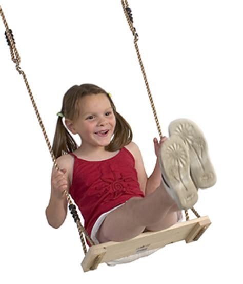 soft swing uk children s varnished hardwood swing set with soft hempex rope