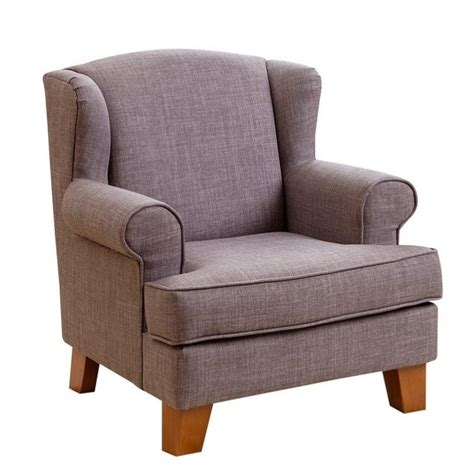 mini armchair abbyson living radcliffe kids wingback fabric mini armchair in gray br k ac22 gry