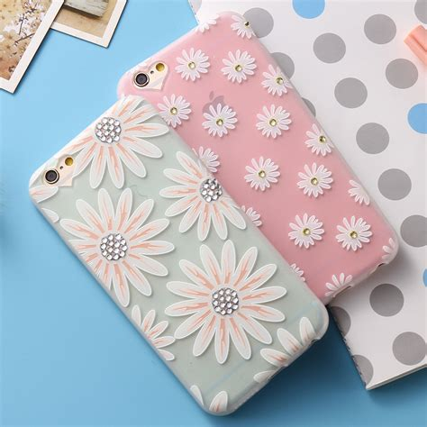 Iphone 6 6s Luxury Flower Soft Tpu Cover Casing Bumper print flower for iphone 6 6s iphone 6plus 6splus frosted soft tpu luxury glitter 3d