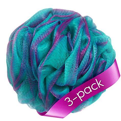 Shower Lofa by 187 Loofah Bath Sponge Set Of 3 Different Colors 70 Gram