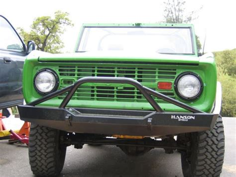 prerunner bronco bumper hanson offroad feb1402 p early bronco pre runner front