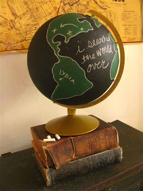 chalkboard paint globe 5 worldly inspired diy projects homejelly