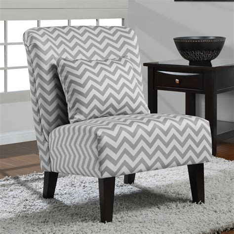 Grey And White Accent Chair Grey White Chevron Accent Chair Contemporary Armchairs And Accent Chairs By