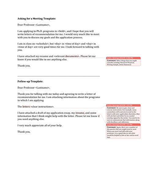 asking for recommendation letter best template collection