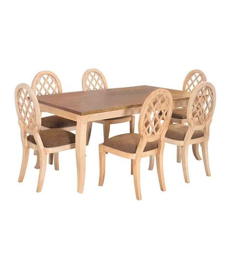 Solid Wood 6 Seater Dining Set Buy Solid Wood 6 Seater Dining Set At Best Prices In Home By Nilkamal Miraya Solid Wood 6 Seater Dining Set Buy Home By Nilkamal Miraya Solid