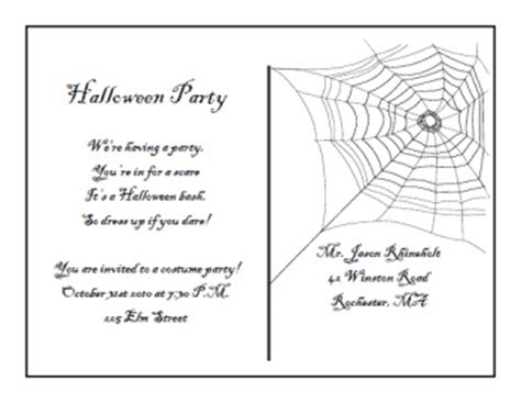 free printable halloween borders invitations printable halloween postcard invitations
