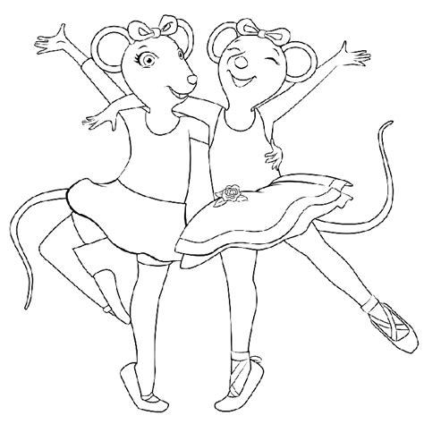 angelina ballerina coloring pages online angelina ballerina coloring pages coloringpagesabc com