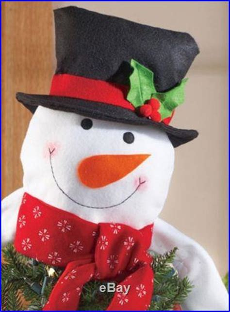 how to make a snowman tree hugger tree snowman topper hugger decor polyester 20l new b6221 decor world