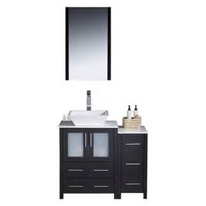 Bathroom Vanity With Top And Faucet Shop Fresca Torino Espresso Vessel Single Sink Bathroom