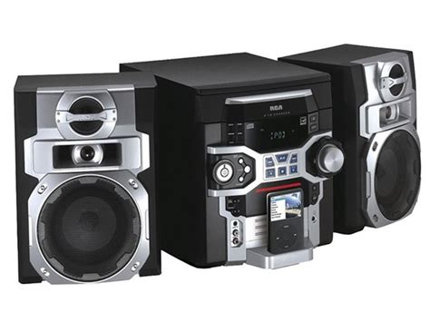 T Rca To Mini Stereo Cabang Audio To Stereo Mini T1310 Rca 5 Cd Mini Stereo System W Ipod Dock