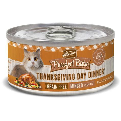 petco merrick food merrick purrfect bistro grain free thanksgiving day dinner canned cat food petco
