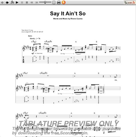 say it aint so afounheblu download say it aint so chords