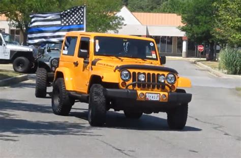 Jeep Owners Jeep Owners Show Up To Quot Back The Blue Quot Jk Forum