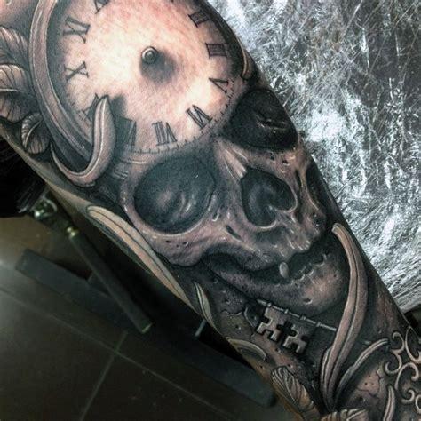 50 skull sleeve tattoos for men masculine design ideas