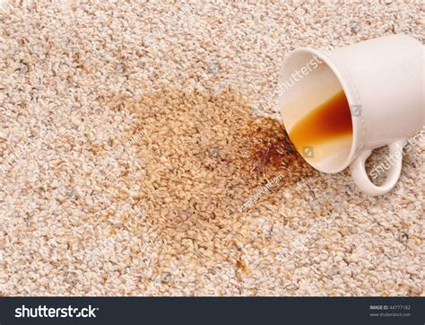 Spilled Coffee On by Spilled Coffee On The Carpet Stock Photo 44777182