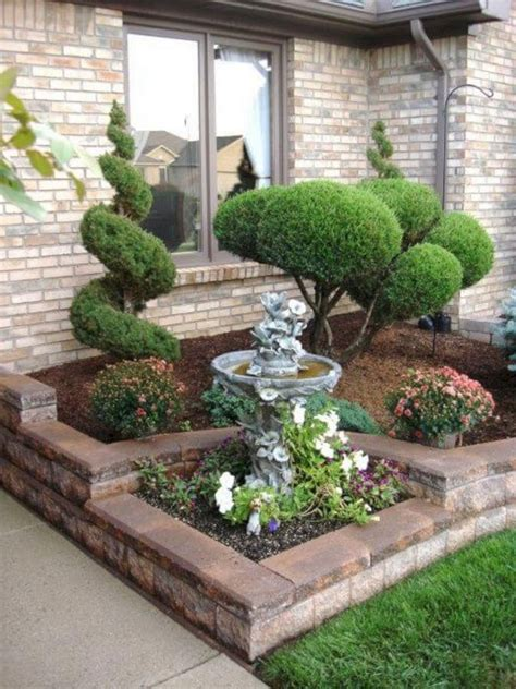 amazing  simple  beautiful front yard landscaping