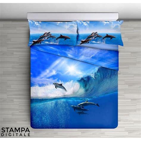 lenzuolo copriletto lenzuolo copriletto digitale delfini mare matrimoniale 2