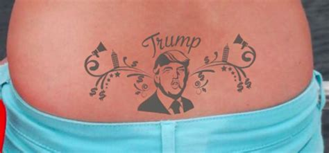 tattoo of us donald trump in the countdown to the u s election check out these