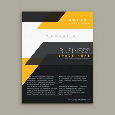 business flyer design vector free download stylish business flyer brochure design vector free download