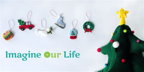 mini advent ornaments set three imagine our life